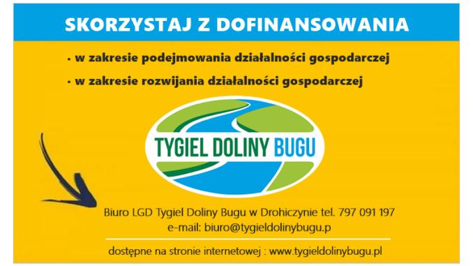 Grafika nabór wniosków o dofinansowanie LGD Tygiel Doliny Bugu