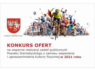 grafika otwarty konkurs ofert kultura fizyczna powiat siemiatycki