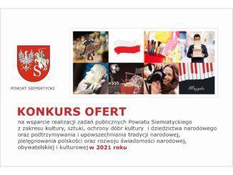 grafika otwarty konkurs ofert kultura, sztuka itd powiat siemiatycki